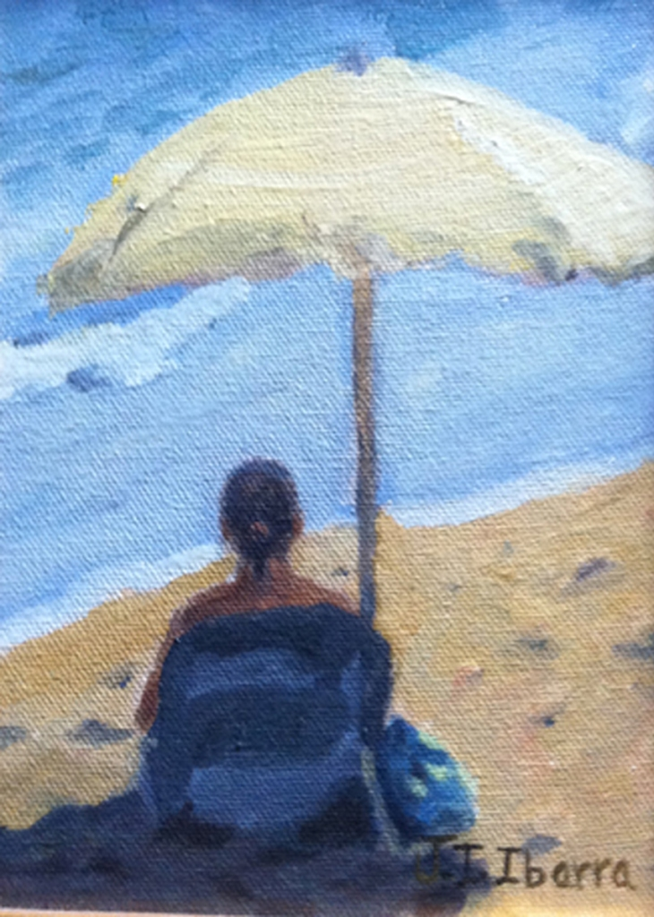 01 Woman With Yellow Umbrella - Jose Ivan Ibarra Woman With Umbrella